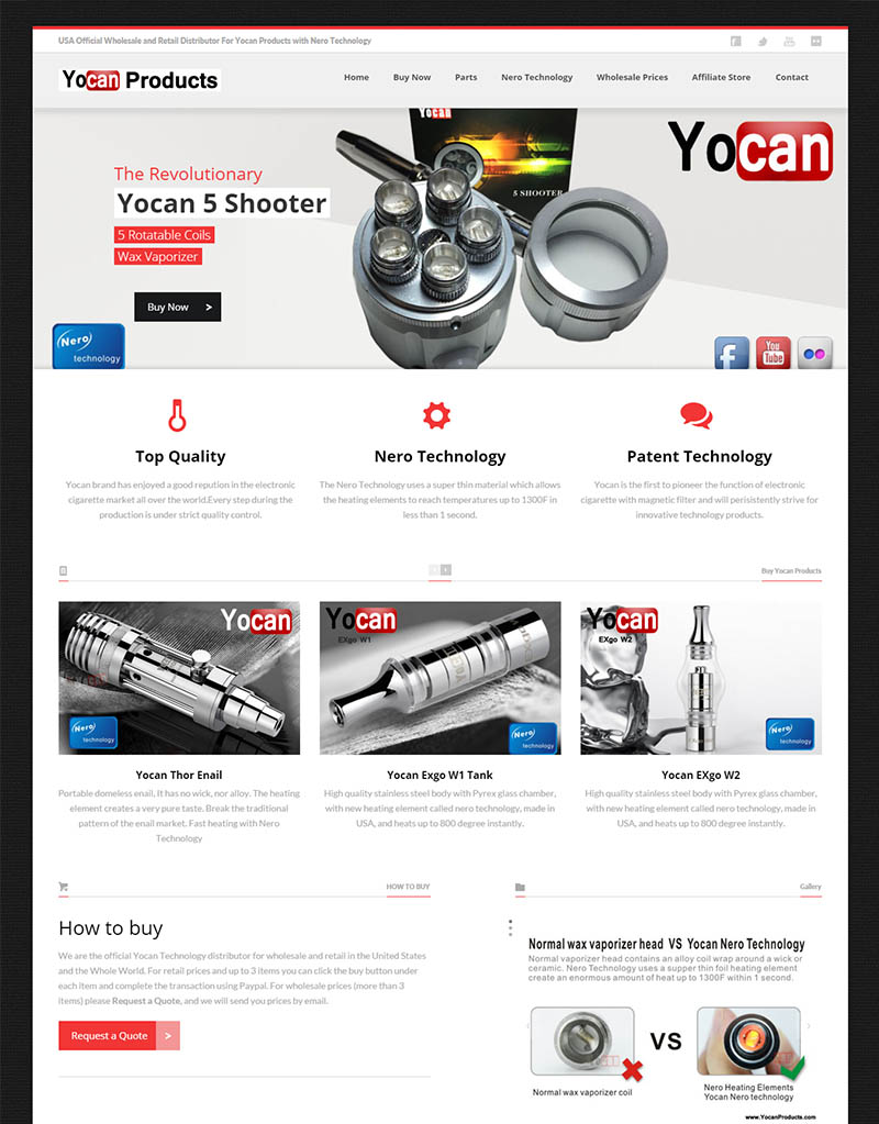 Yocan Products online store e-commerce website seo los angeles